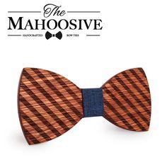 Mahoosive Gravata Plaid Wood Bow Tie For Man Wedding Butterfly Design Necktie Cheery Wooden Bow Ties Butterfly Shape, Butterfly Design, Wedding Men, Wedding Suits, Auntie Gifts, Wooden Bow Tie, Butterfly Wedding, Skinny