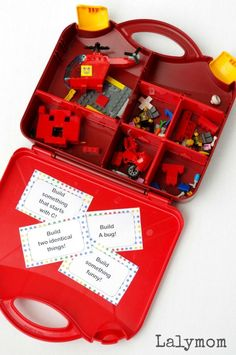 Free LEGO Building Cards. Great busy bag or quiet time activity for kids!