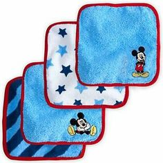 Mickey Mouse Washcloths !