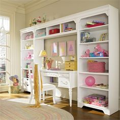 Dana Above Desk Wall Storage Unit with Drawers by Young America by Stanley, Bookshelves, Furniture for Children