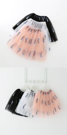 Kid Girl Embroider Sequins Feathers Tutu Skirt Tutus For Girls, Kids Girls, Feather Tutu, Girl Tutu, Feathers, Ballet Skirt, Sequins, Skirts, Outfits