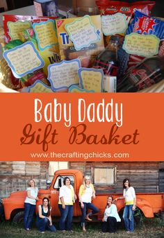 Daddy's Baby Giftbasket - Such a cute idea for the hospital for your man! - Add in some $10 giftcards for take out at some nearby restaurants (Starbucks, chipotle, McDonalds, Jimmy Johns, etc.) in case he gets hungry for something outside the hospital or wants to grab you both some lunch/dinner!