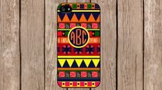 Personalized Monogram Aztec Tribal Pattern case for iPhone 4/4s/5/5s/5c Samsung Galaxy S3/S4/S5/Note 2/Note 3 by TopCraftCase, $6.99