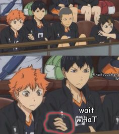 Haikyuu! Kageyama and Hinata funny .... OH MY GOOOOD WHEN DID THIS HAPPENNNNN KYAAÀH I GOTTA REWATCH IT KYAAAAAH