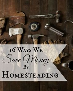 Interested in homesteading, but worried about the costs? Here are 16 Ways We Save Money By Homesteading | areturntosimplicity.com: