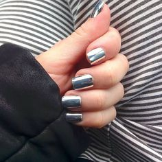 Pin for Later: Mirrored Manicures Are the Latest Nail Art Craze You Need to DIY