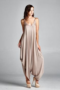Requiem Loose Harem Jumpsuit (mocha)