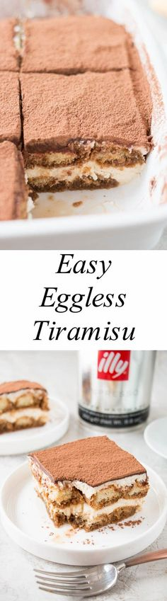 All the great taste of a traditional tiramisu, but without the raw eggs. This amazing coffee flavored dessert is effortless to make impressive to serve.