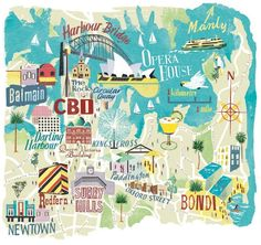 Anna Simmons - Map of Sydney for National Geographic Traveller