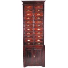British Colonial Document Cabinet | From a unique collection of antique and modern commodes and chests of drawers at https://www.1stdibs.com/furniture/storage-case-pieces/commodes-chests-of-drawers/