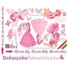 Pink tündérek falmatrica #babaszoba #tündér #falmatrica #gyerek #gyerekszoba #faldekoráció #pink #kislány Pink, Pink Hair, Roses