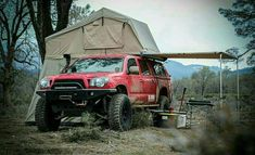 34 ideas truck camping setup adventure for 2019 Overland Tacoma, Tacoma 4x4, Tacoma Truck, Overland Truck, Expedition Truck, Jeep Truck, Off Road Camping, Camping Set Up, Truck Camping