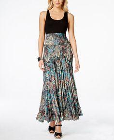 Karen Kane Ruffle-Tiered Printed Maxi Dress