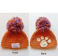 Clemson Baby Hat Clemson Tiger Hat Clemson Football by CozyNooks