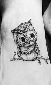 tattoo owl on branch - Google Search