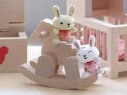 wooden rabbit magnets