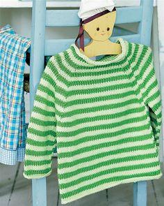 Sød stribet barnesweater - Hendes Verden