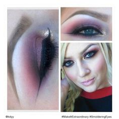 Sultry smolder: We love this #SmolderingEyes makeup application by Katey.
