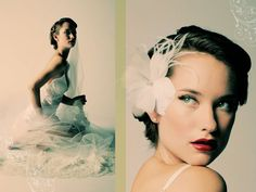 Love the antique bridal look