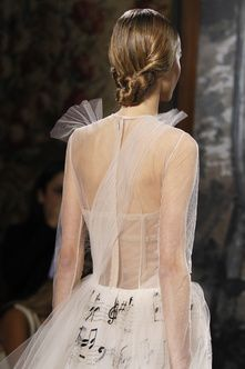This is how Valentino STARTS their show, so don't worry about it.  #nbd