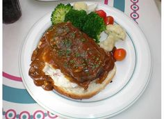 The Meatloaf from Carnation Cafe.  Comfort food and a view of the parade!