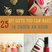 Looking for DIY gifts you can make in a hurry? The moment December hits, it feels like every weekend is filled with holiday festivities like dinner parties and family get-togethers.  It can get a bit crazy when we have to think of the gifts we need to buy or make. So to avoid running