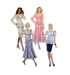 """Women's Two-Piece Dress in Two Lengths McCall's 6067 Misses' Size 8,10,12 Bust 31.5, 32.5, 34"""" Sewing Pattern Uncut"""