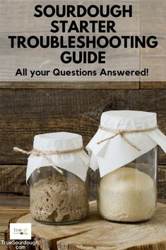May 2020 - This sourdough starter troubleshooting guide answers all the most frequently asked questions along with how to feed sourdough starter, sourdough starter uses, how to revive sourdough starter, and what to do if things go wrong! Sourdough Starter Discard Recipe, Yeast Starter, Sourdough Recipes, Sourdough Rye Bread Recipe King Arthur, Sourdough Baguette Recipe, Sour Dough Starter, Sourdough Cinnamon Rolls, Sourdough Pancakes, Sourdough Pizza