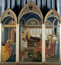 Nativité de la Vierge Lorenzetti Pietro (fin 13e siècle-1348) Italie, Sienne, Musée de l'Oeuvre de la Cathédrale