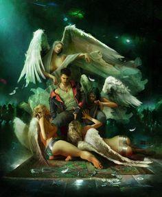 ArtStation - Angels Fight, Alessandro Taini