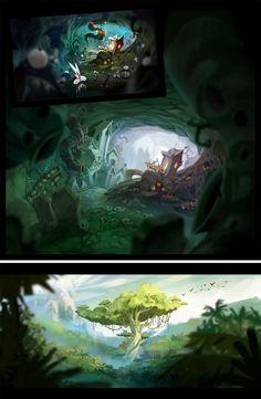 Mais concept arts de Rayman Origins, por Floriane Marchix | THECAB - The Concept Art Blog