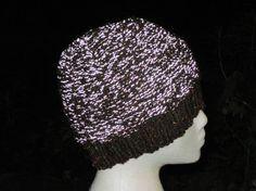 Knitted WOOL REFLECTIVE Reversible Brown Tweed by MulliganYarns Free Knitting, Yarns, Tweed, Beanie, Wool, Brown, Etsy, Fashion, Moda