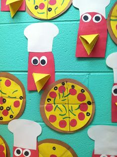 I like the hen for the Little Red Hen Pizza story but this site is for Fractions - Great ideas for introducing Fractions (Start with one day, go into and the next day). Math Classroom, Classroom Activities, Activities For Kids, Preschool Math, Classroom Ideas, Kindergarten, Introducing Fractions, Math Fractions, Teaching Fractions