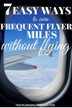 Here are 7 easy ways to earn frequent flyer miles without flying. Use these tips to go on that dream vacation sooner. frequent flyer miles airline miles travel hacks travel tips Travel Advice, Travel Hacks, Budget Travel, Travel Tips, Travel Packing, Travel Essentials, Free Travel, Travel Deals, Travel Guides