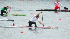 Sebastian Brendel (12/03/1988) of Germany competes during the men's Canoe Single (C1) 1000m Sprint finals on Day 12 of the London 2012 Olympic Games at Eton Dorney.  (8-8-2012)