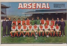 Shoot! Arsenal team pic, 1979, Umbro & adidas