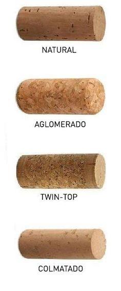 Different wine cork types