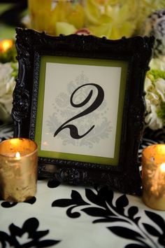 Table number  Photo by Jamie K Photography