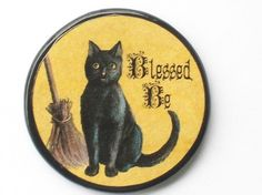 Hey, I found this really awesome Etsy listing at https://www.etsy.com/listing/66139961/vintage-blessed-be-cat-talisman-amulet