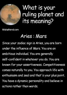 Find out your ruling planet and its meaning- Aries- Mars