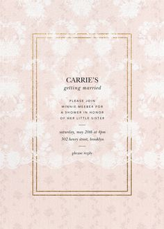 Discover invitations from Brock Collection for your next soirée. Browse the online collection featuring romantic floral fabrics from the fashion duo. Paperless Post, Digital Backdrops, Modern Love, Something Old, Sun Kissed, Bridal Lace, Floral Fabric, Little Sisters, Bridal Shower Invitations