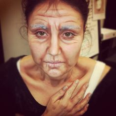 Old age fantasy make up Maquillage Halloween, Halloween Makeup, Old Age Makeup, Makeup Tips, Hair Makeup, Makeup Ideas, Media Makeup, Fantasy Make Up, Witch Makeup