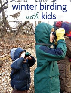 Tips from the mom of two birders. Winter birding with kids is a fun way to explore the outdoors in the dreary months.