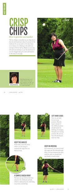 Crisp Chips: how to hit perfect chip shots, with Becky Brewerton. As seen in LadyGolfer UK Magazine. Basic Chipping Types in Golfing. golf chipping tips Golf Basics, Golf Chipping Tips, Golf Score, Golf Putting Tips, Golf Day, Golf Instruction, Golf Channel, Golf Tips For Beginners, Perfect Golf