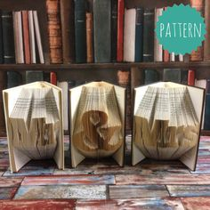 Folded Book Art Mr and Mrs Word Pattern & tutorial, gift, home, decoration, Wedding, Bride, Groom