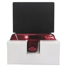 Chalkboard Stocking Holder - Red  $10 @Target Pet Stockings, Stocking Holders, Holiday Themes, Holidays With Kids, Chalkboard, Red, Target, Happy, Christmas