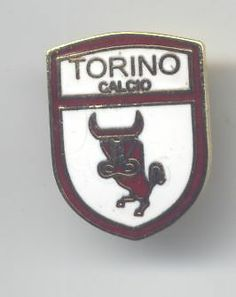 distintivo calcio smaltato TORINO CALCIO scudo con toro stilizzato