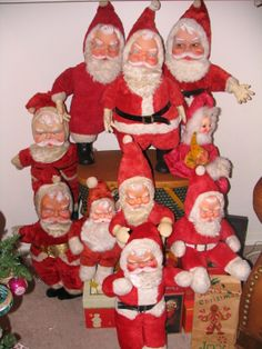 My vintage Santa collection