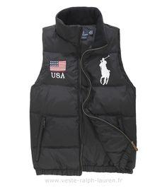 Polo officiel - Ralph Lauren veste sans hommesches hommes exquis italiens  promotions createurs noir Veste Sans Manches Hv Polo b42fe91b711