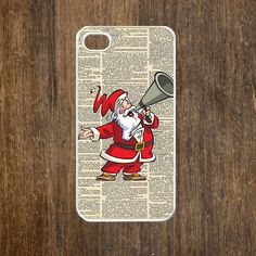 iPhone 4 case, iPhone 4s case, case for iPhone 4 mobile case handmade : Chrimas santa iPhone 4 Case